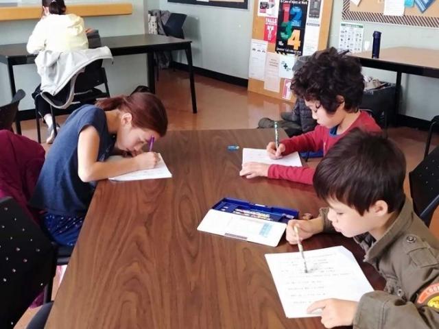 漢字検定の様子